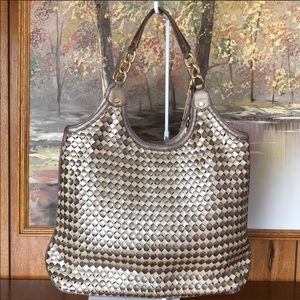 Cole Haan Basket Weave Tote!! Perfect summer bag!